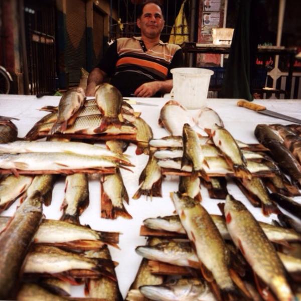 spanish fish vender by Gabriel le Roux