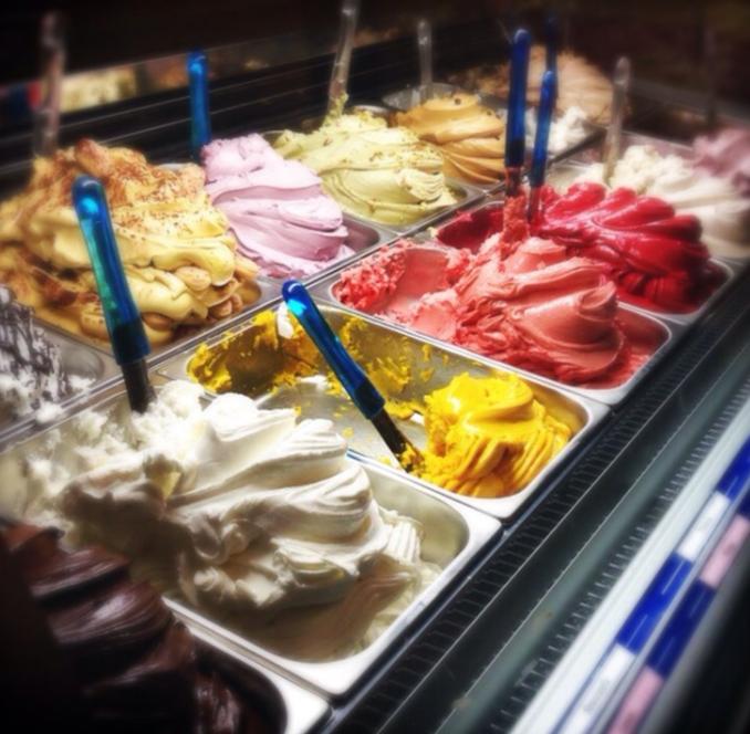 ice cream in spain