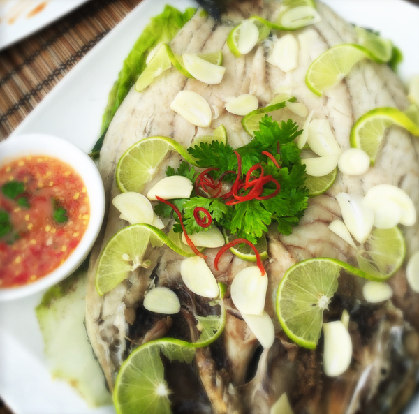 steamed fish and thai sauce by Gabriel le Roux