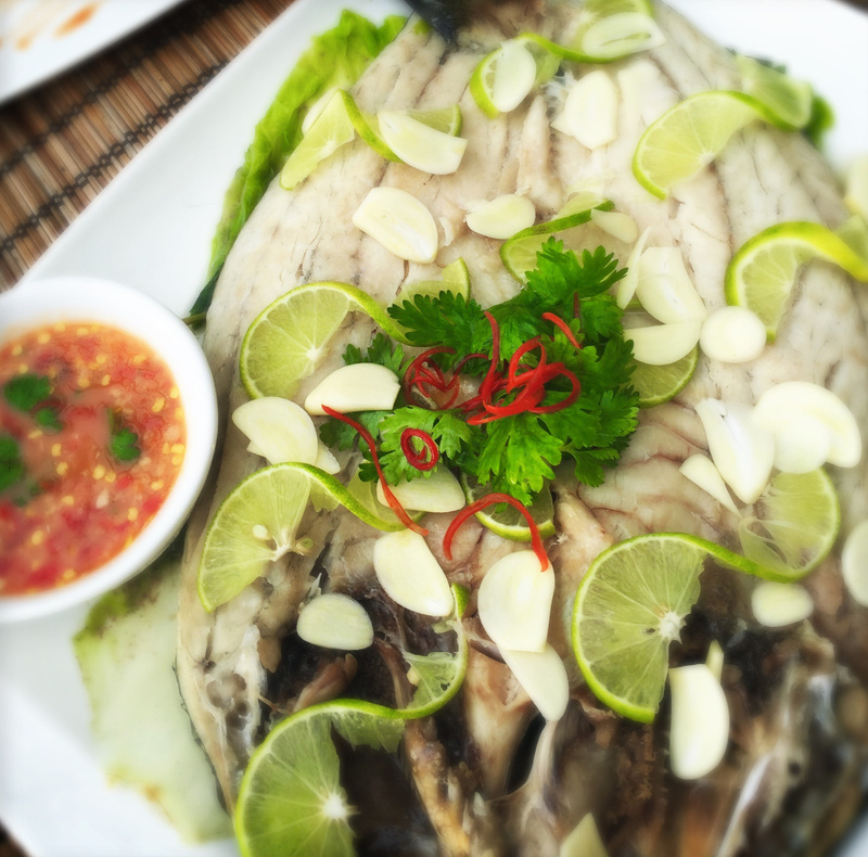 steamed fish and thai sauce