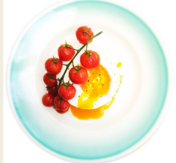 tomato and egg by Gabriel le Roux