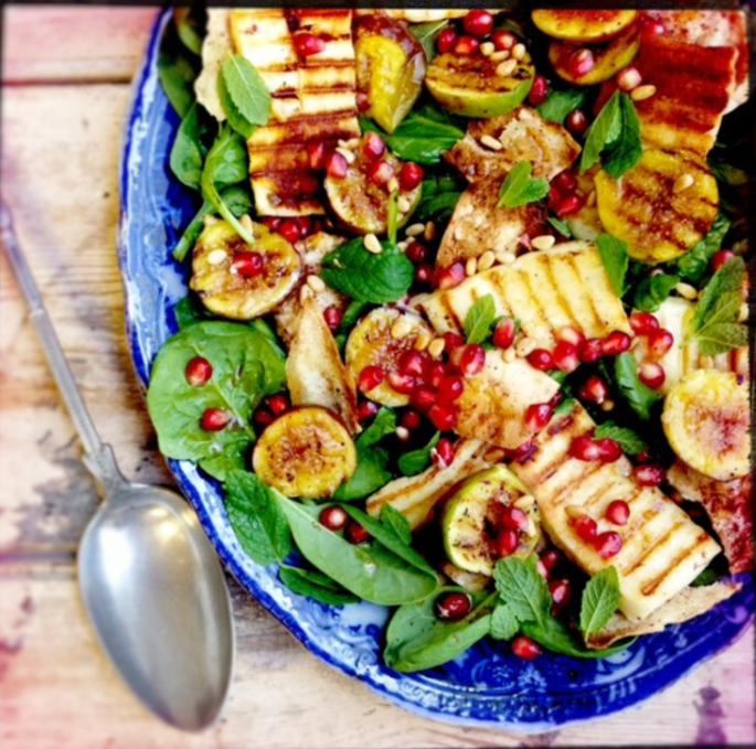 grilled vegetable beach salad