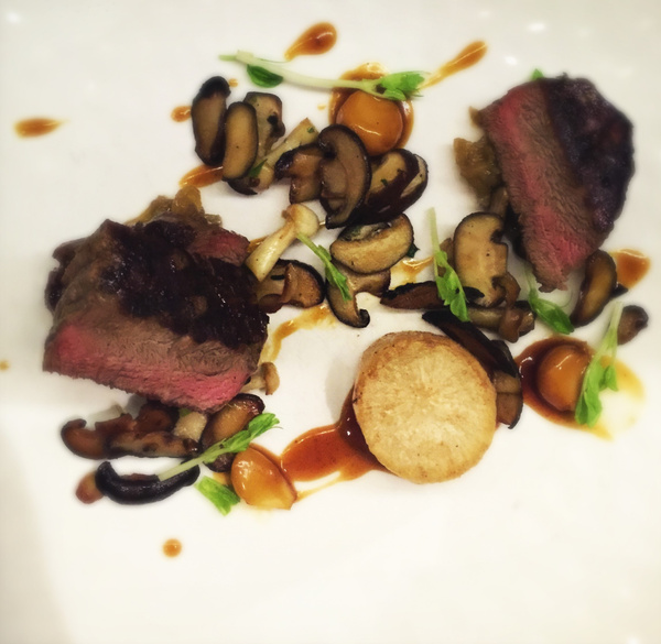 beef and mushrooms by Gabriel le Roux