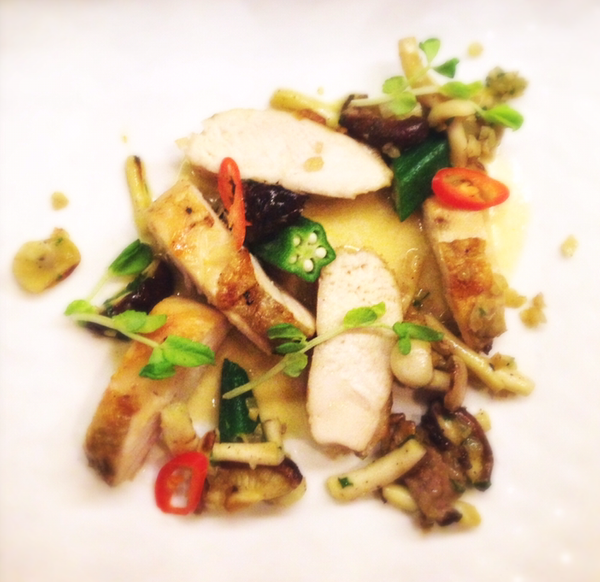 poached chicken by Gabriel le Roux