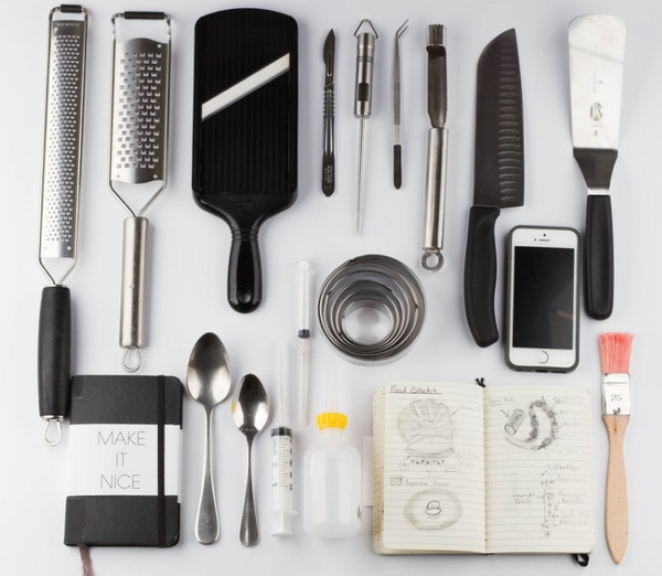 food styling kit by Gabriel le Roux