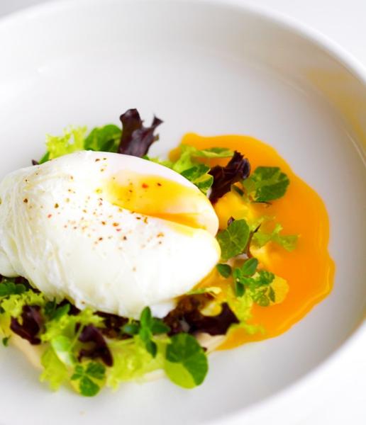 poached egg salad by Gabriel le Roux