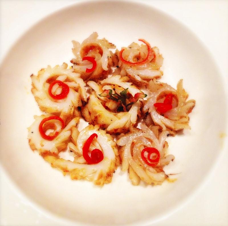 calamari and pickled sweet pepper
