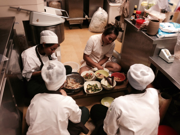 lunch with my thai staff by Gabriel le Roux