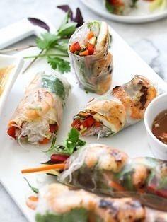 rice paper rolls by Gabriel le Roux
