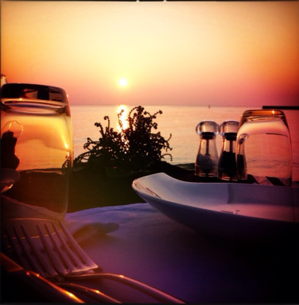 romantic sunset dinner by Gabriel le Roux