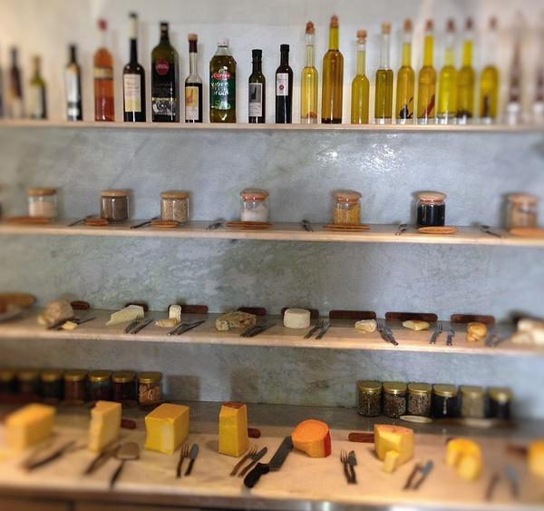 cheese, salt olive oil by Gabriel le Roux