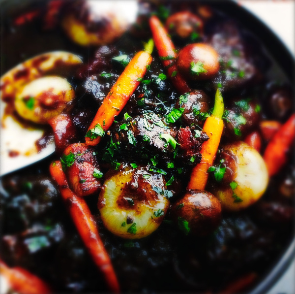 hearty beef stew by Gabriel le Roux