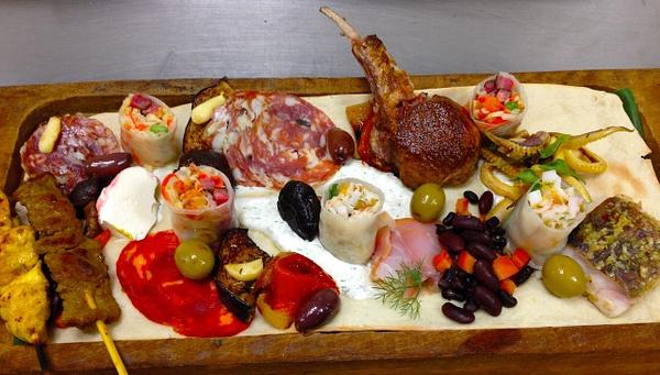 mezze platter by Gabriel le Roux