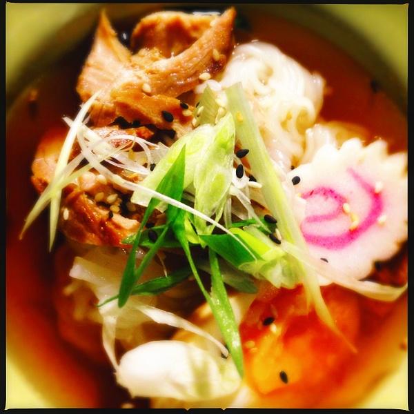 pork and noodle soup by Gabriel le Roux
