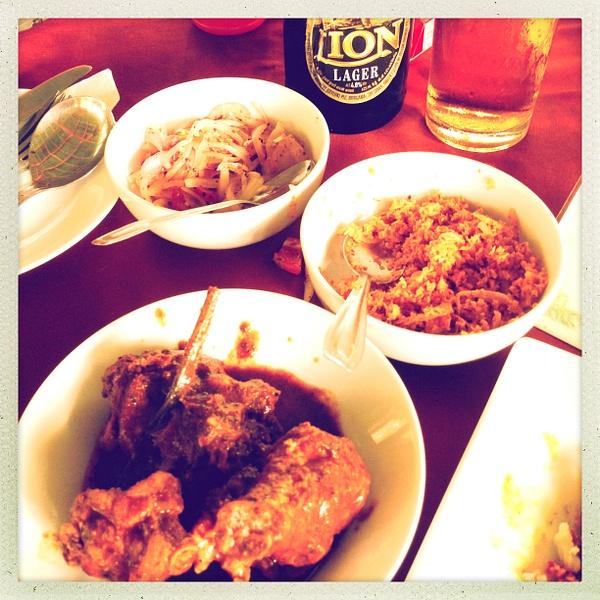 sri lanka curry lunch by Gabriel le Roux