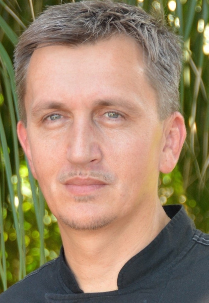 josef jungwirth group executive chef, sandals by Gabriel...