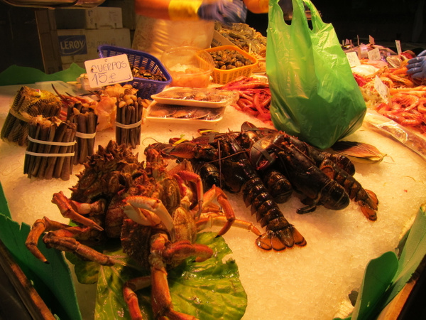 seafood for sale by Gabriel le Roux