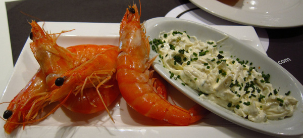 poached prawn by Gabriel le Roux