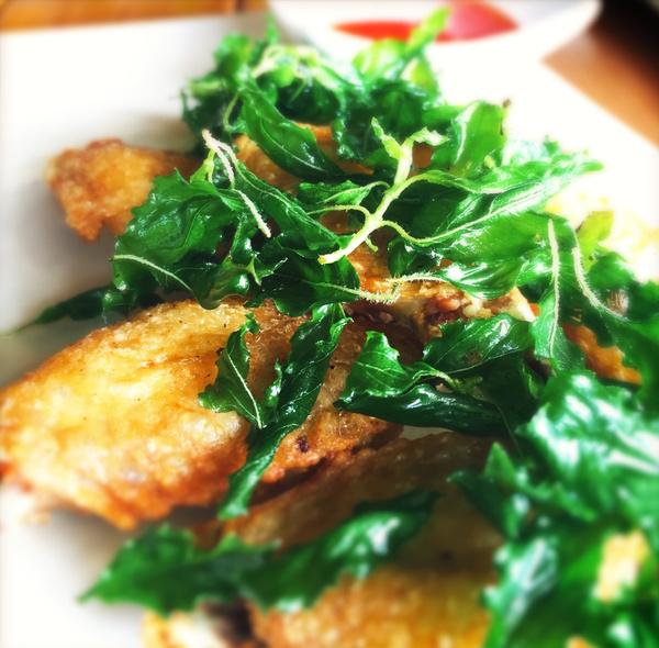 chicken wings and holy basil by Gabriel le Roux
