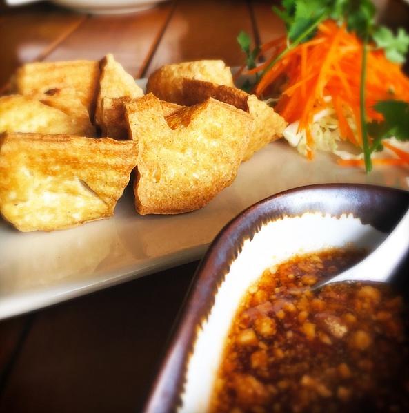 fried tofu by Gabriel le Roux