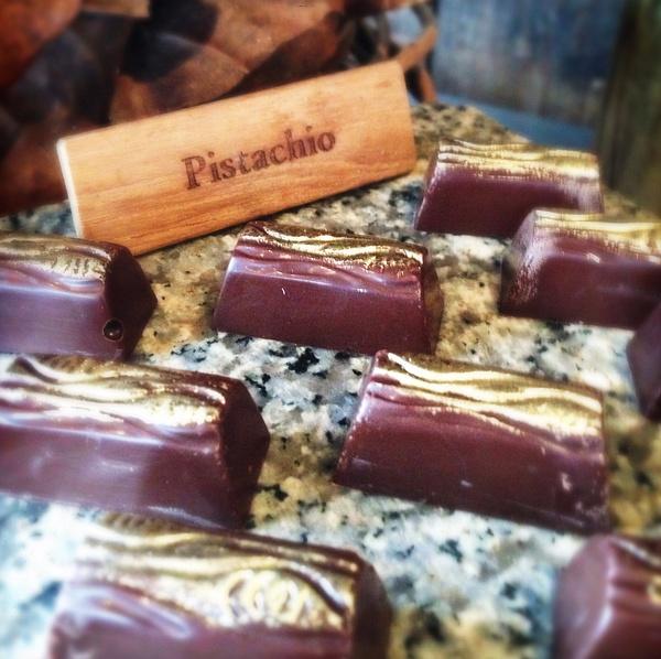 chocolate room pistachio by Gabriel le Roux