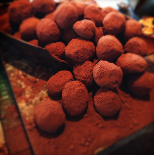 chocolate room truffles by Gabriel le Roux