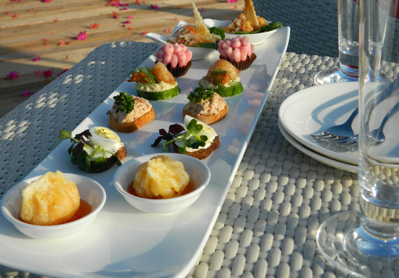 the deck sunset canapes