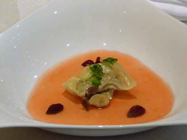 goji berry consomme by Gabriel le Roux