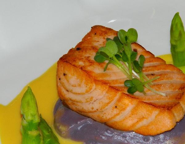 grilled salmon by Gabriel le Roux