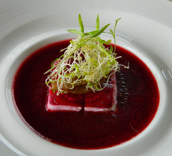 RAW food beetroot terrine by Gabriel le Roux