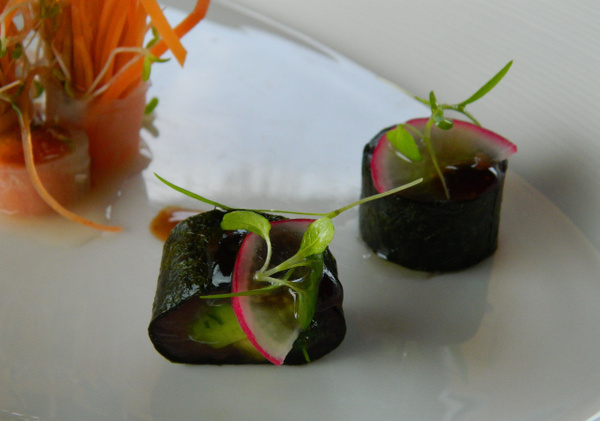 RAW food carrot salad by Gabriel le Roux