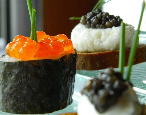 salmon roe & caviar by Gabriel le Roux