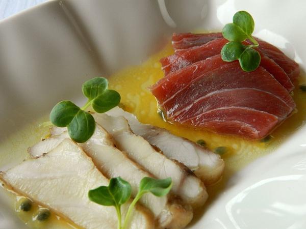 passion fruit seafood by Gabriel le Roux