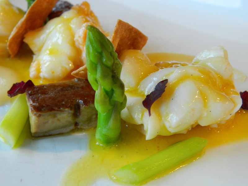 vanilla butter poached lobster