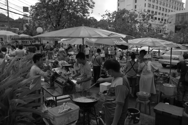 Phuket street food market by Gabriel le Roux