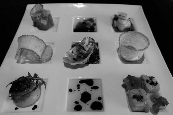 seafood appetizer by Gabriel le Roux