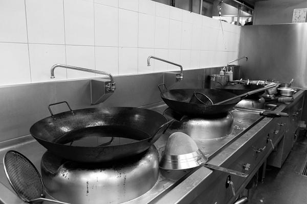 wok station by Gabriel le Roux