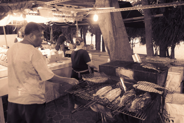 bbq salted fish by Gabriel le Roux