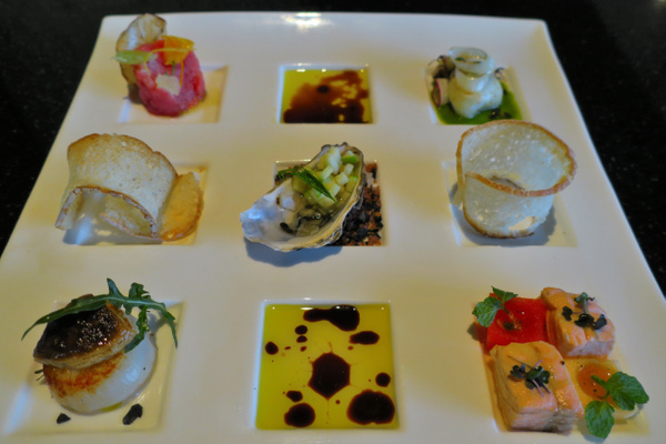 seafood tasting by Gabriel le Roux
