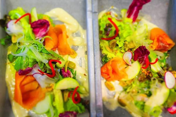 smoked salmon salads by Gabriel le Roux