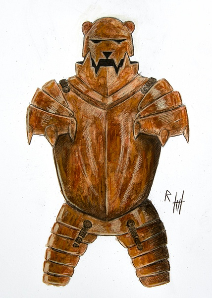 Rusted Bear Armor by Romeodraw
