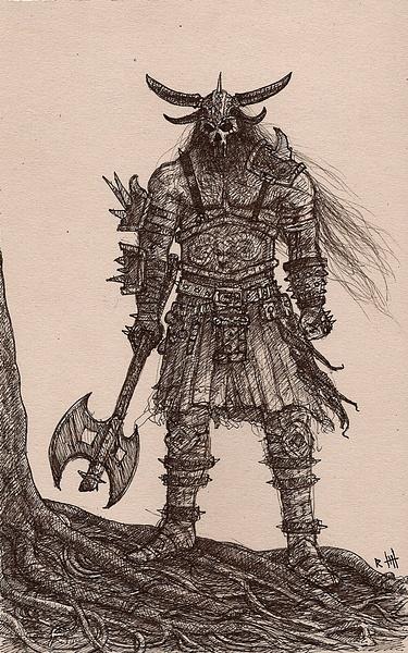 Barbarian War by Romeodraw