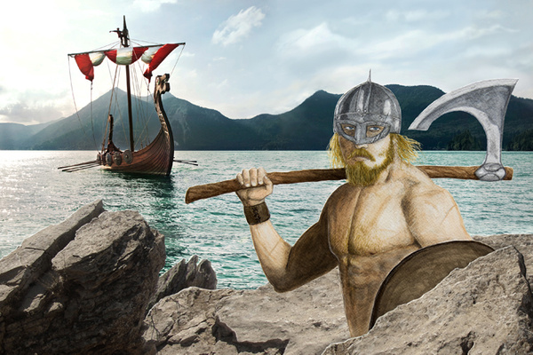 Viking (large) by Romeodraw