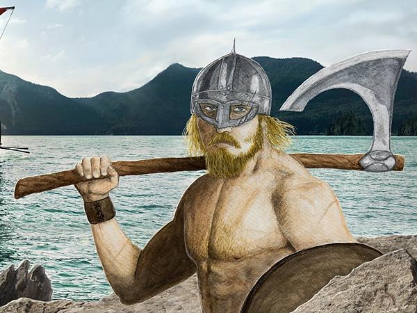 Viking (close-up) by Romeodraw