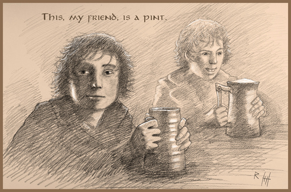 Hobbit Pint by Romeodraw