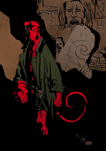 Hellboy #1 by Romeodraw
