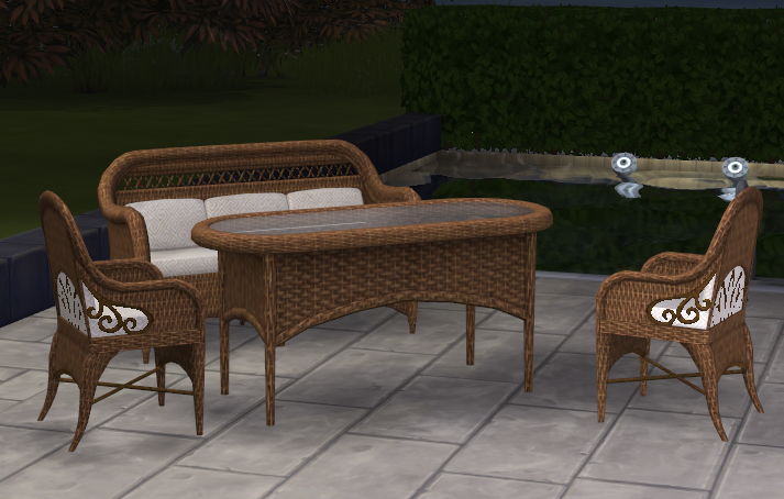 By Request - Wicker Set Conversion Brown_Set