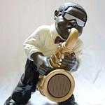 Beeld muzikant enkel (26-50 cm)