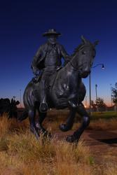 OKC Ghost Riders at Night