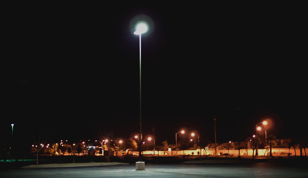 parking lot light 3 by Thure Johnson